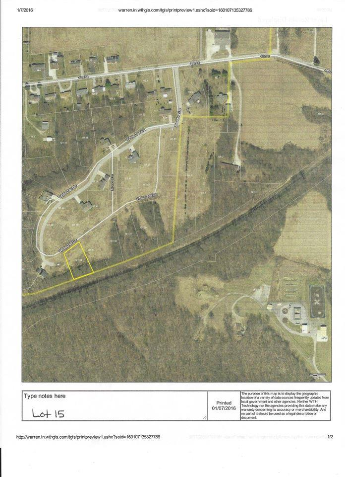 Lot 15 White Tail Circle, Williamsport, IN 47993