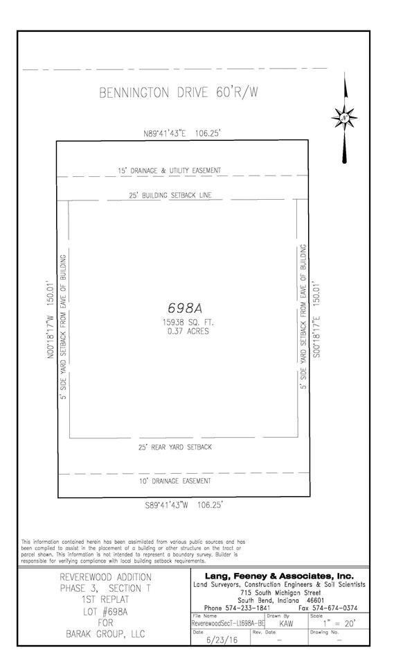Lot 698A  Bennington Mishawaka, IN 46544
