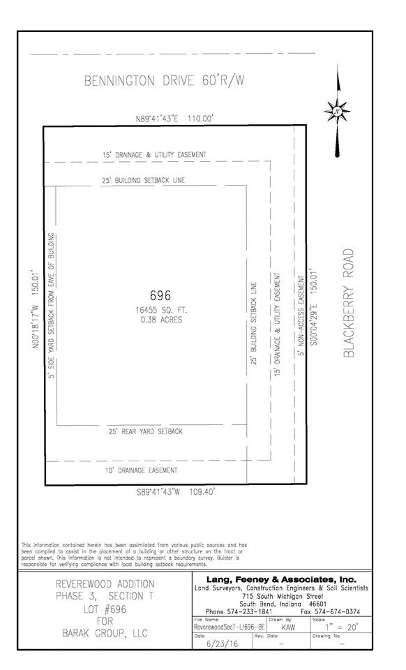 Lot 696  Bennington Mishawaka, IN 46544