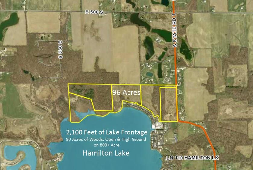 Hamilton Lake Indiana Map.5501 S State Road 1 Indiana Lake And Luxury Homes