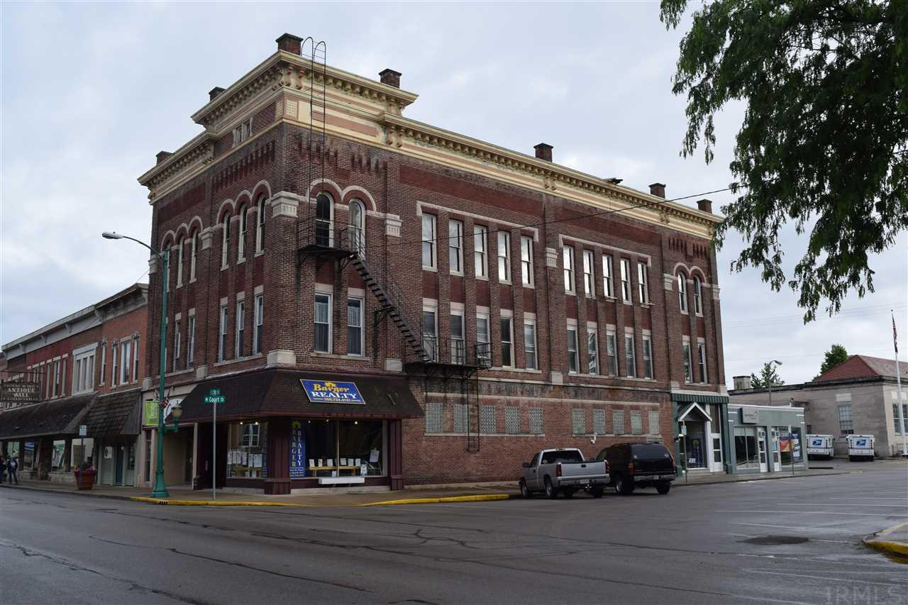 Great downtown location!  This building offers rentals and so much more. It was once the Interurban train depot.  The second floor was a hotel and the third floor was an entertainment area with a bar and restaurant.  So much potential!