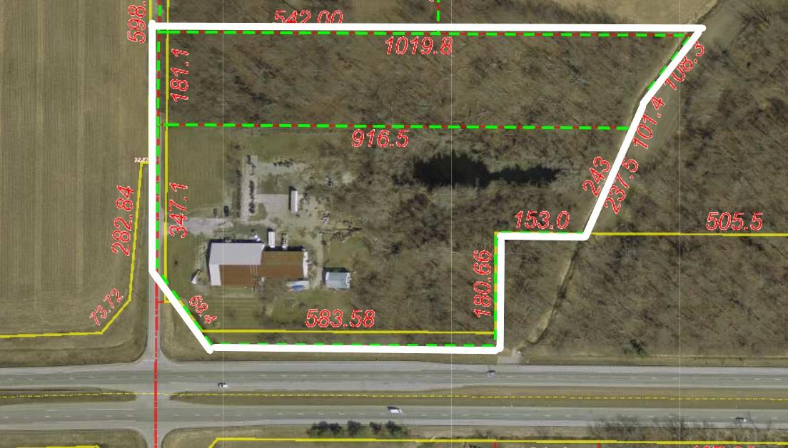 LOCATION LOCATION LOCATION! This 10 acre lot is located right off of US 30. The property has a lot of potential to become the perfect piece of real estate for your commercial business.
