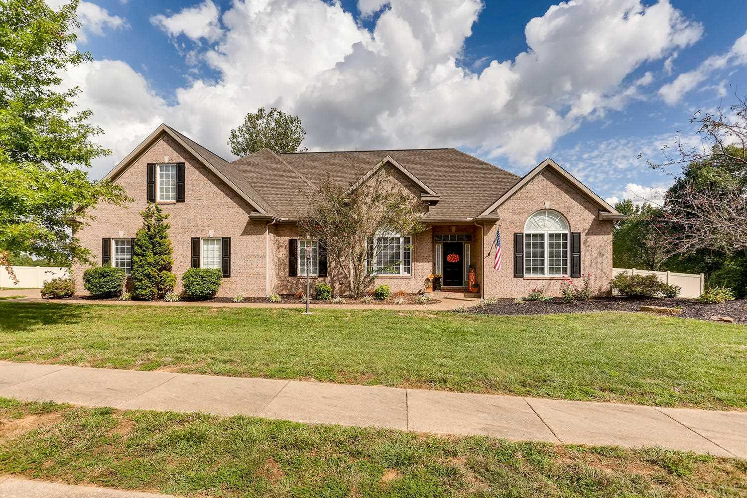 Remarkable 4-bedroom, 3.5-bath home located on a 0.9-acre lot with a fully-fenced backyard.  This spectacular home boasts an open floor plan, updated hardwood floors (2017), updated carpeting (2017), extensive custom trim and wood work, high ceilings, wood-trimmed columns, crown molding, and so much more.  The great room features a built-in entertainment center with gas fireplace, flanked by built-in bookshelves.  In addition to the formal dining room, there is a large dining area in the eat-in kitchen, which has castled crown-topped cabinets, granite counters, pendant and canned lighting, and access to the covered back porch.  The main-level master suite offers a tray ceiling with crown molding, two over-sized walk-in closets, and a full bath with double walk-in shower, a large vanity, and garden tub.  Just off the garage is a spacious drop-zone, half bath, and laundry room.  Two additional bedrooms and a full bath complete the main-level of the home.  Upstairs is an open family room with an office, a large bedroom, and a full bath.  There is also walk-in access to the floored attic space.  The back yard is a great spot to entertain with a water feature just off the covered porch, and a new vinyl privacy fence (2017) surrounding the enormous back yard!  Sale includes: range; dishwasher; microwave; refrigerator; washer; dryer; window treatments; laundry room hangers; gas grill; and garage refrigerator.  Sale excludes: trampoline.