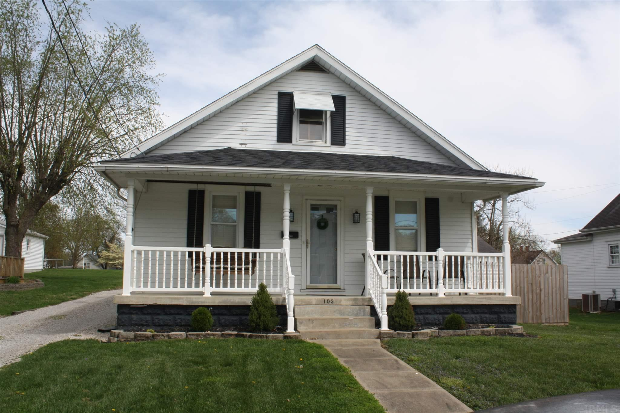 Check out this 3 bedroom one and a half bath within walking distance of historic 4th Street in Huntingburg. It has been almost completely remodeled inside and has a fully fenced in backyard and a detached 2 car garage!