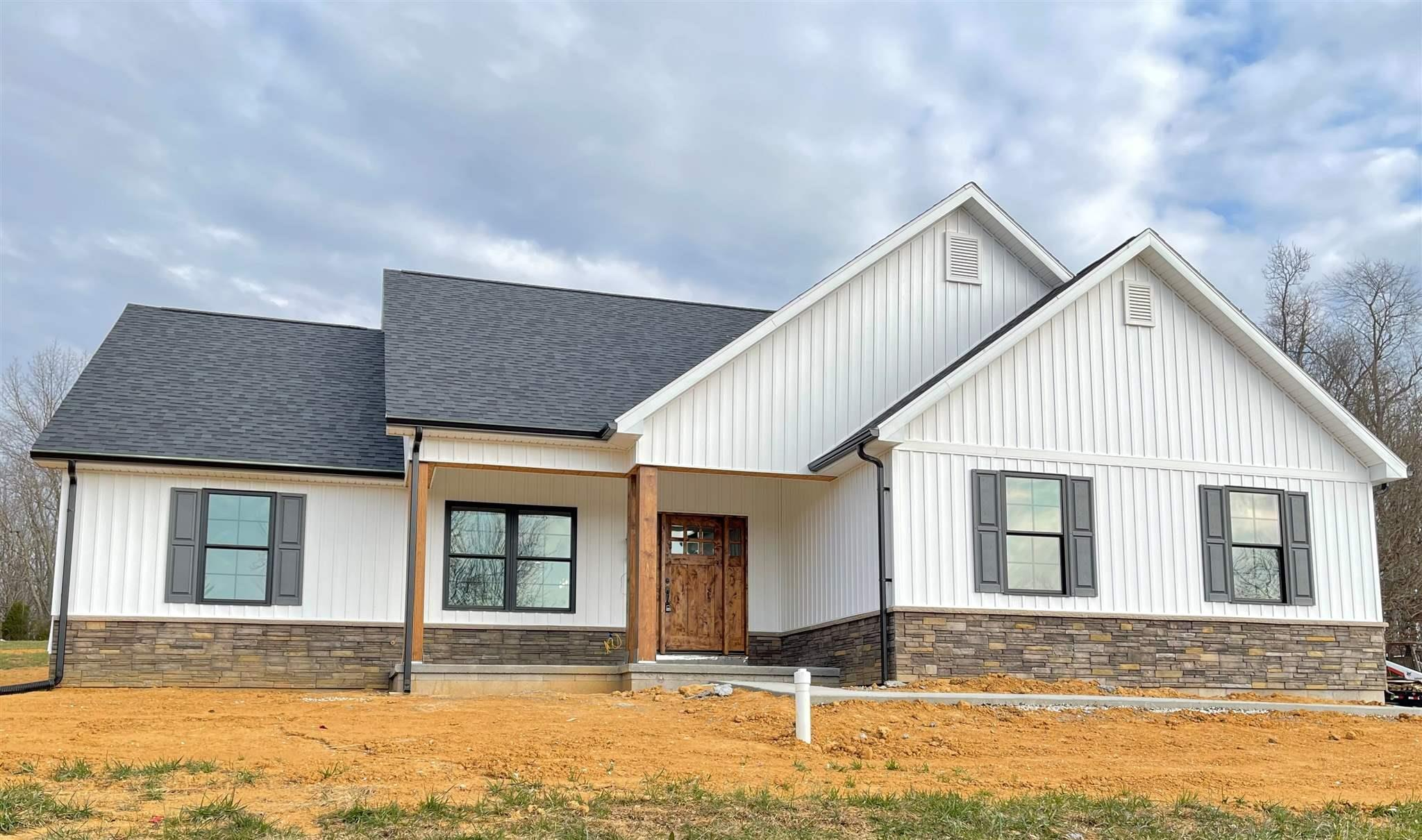 Brand New Construction!  3 bedroom, 2 full bath Craftsman style home on almost 1 acre with 2 car, side load garage.  Features include:  Open floorplan, split bedroom concept, master bedroom with tray ceiling and walk in closet.  Master bath includes double vanities and tiled shower.