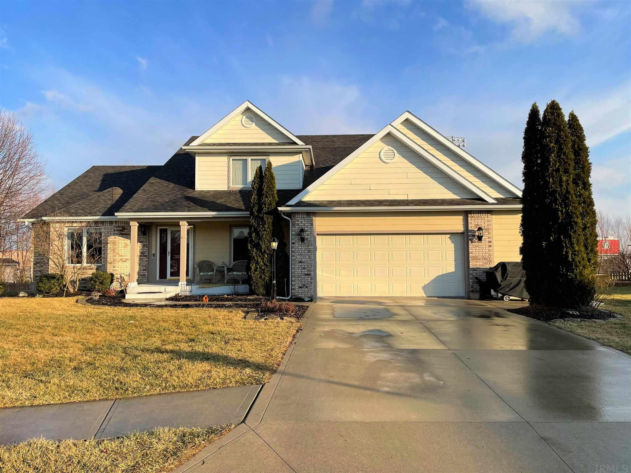 This amazing 3700+ sq. ft. 1 owner home features 4 (possibly 5) bedrooms, 3 1/2 bathrooms on a quiet cul-de-sac in SW Allen County. The foyers and formal dining room both have brand new floors which also lead into the Great Room w/ Sunlit oversized windows & gas log fireplace with cubby for artwork or TV above. Check out the culinary kitchen, with tons of cabinet space, new floors installed in 2019, an island for entertaining, and great eat in area that features French doors that open up to the brand new deck. Main Level Master Suite features new carpet in 2020, tray ceiling, a 'to-die-for' master-en-suite w/ jetted soaking tub, dual sink vanity, stand-up shower & separate water closet with large walk-in closet.  Upstairs you'll find 3 bedrooms and a 2nd full bathroom with double vanity.  The Lower Level features a huge family room, an office area, and a 28x14 room with full bathroom and closet that is currently being used as a second master and workout room.  A mostly finished room is tucked away in the lower level, perfect for a mancave (it's current use) office, play area or craft room.  Outside you'll find nearly .5 acre fenced in yard. There's nothing left to do except move right in and start making memories to last a lifetime.