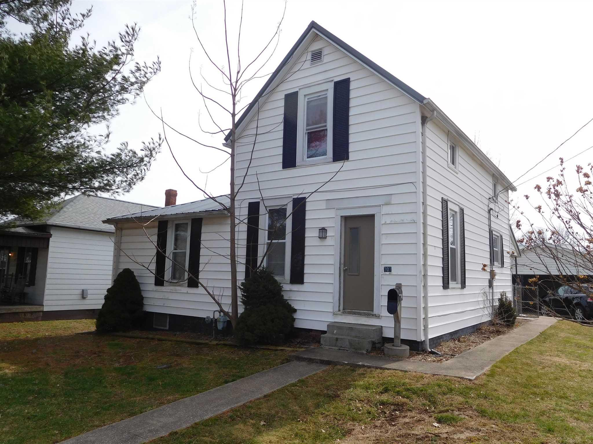Cute 3-bedroom 1-bath home with a large 2 car detached garage.